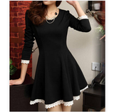Slim Long-Sleeved Lace Princess Dress