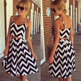 Slim straps two-piece dress