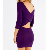 Slim Package Hip Sexy Backless Dress