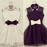 Fashion Bow Belt Dress