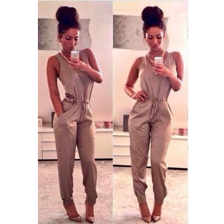 Fashion sexy sleeveless piece pants