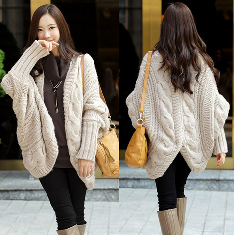 Loose  Bat sleeve long-sleeved sweater coat