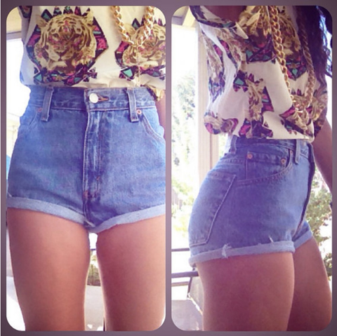 Fashion denim shorts
