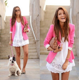 Slim Candy Color Small Suit Jacket