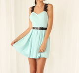 The New Blue Lace Sleeveless Dress