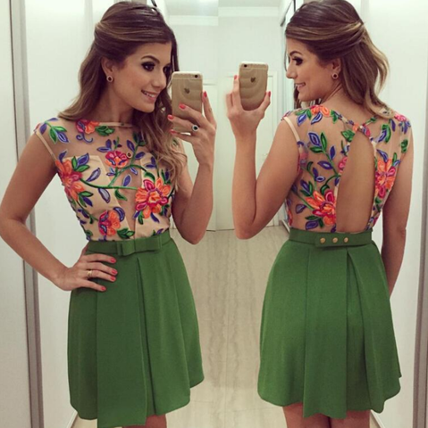 Fashion Floral Sleeveless Dress