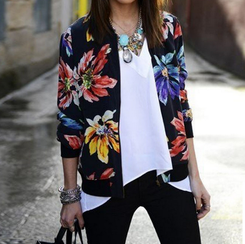 Fashion Printed Long-Sleeved Jacket