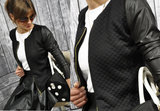 Slim long-sleeved zipper jacket