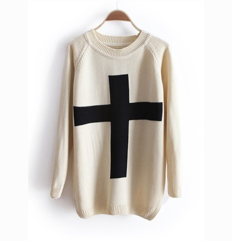 Beige Long Sleeve Sweater
