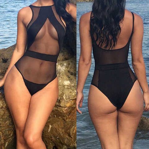 Sexy tight-fitting leotard swimsuit
