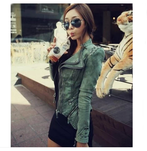 Slim Rivets long-sleeved denim jacket