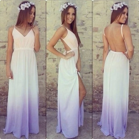 Sling v-neck halter dress