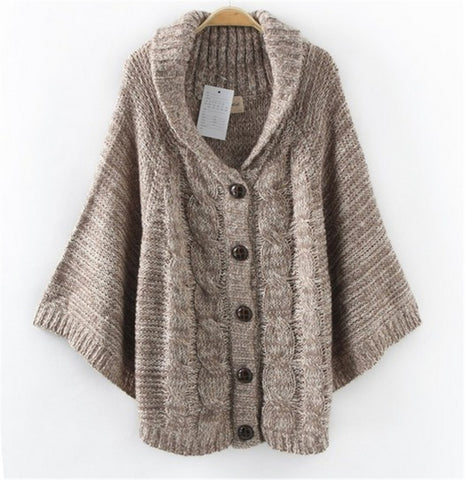 Fashion long-sleeved sweater cardigan jacket