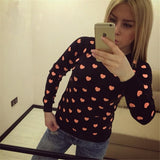 Design Heart-shaped long-sleeved sweater