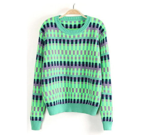 Loose Round Neck Long-Sleeved Sweater