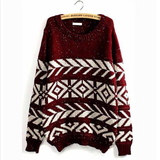 Casual round neck long-sleeved sweater
