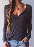Fashion V-Neck Thin Sweater