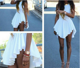 Irregular White Sexy Dress