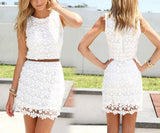 Slim Package Hip Lace Vest Dress