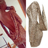 Fashion Backless Sequined Dresses