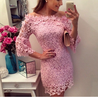 Sweet Lace Mini Dress