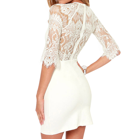 Sexy Lace Stitching Dresses