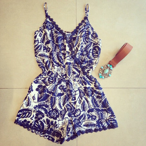 Sweet Printing Harness Dress