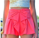 Cute Bow Waist Shorts