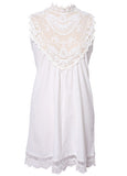 Enchanted White Boho Lace Dress