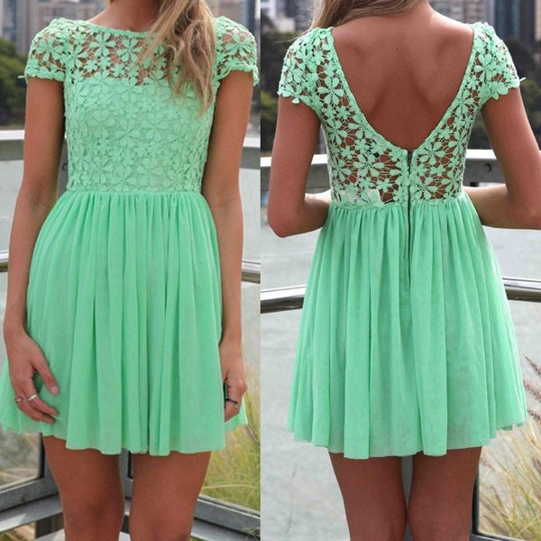6ecd12056b2 Mint Green Women Summer Bandage Bodycon Lace Evening Sexy Party Cockta –  wensoal