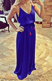 Royal Blue Spaghetti Strap Maxi Dress