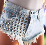 Rivets Jeans Shorts