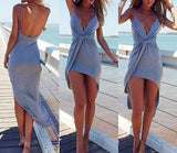 Sexy Deep V-Neck Dress