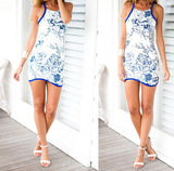 Slim Sling Sleeveless Print Dress