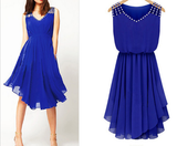 Slim Sling Flounced Chiffon Dress