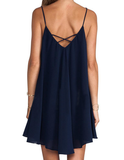 Sexy Sleeveless V-Neck Halter Dress