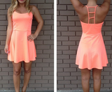 Orange Sleeveless Sexy Dress
