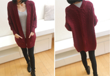 Retro Loose Long-Sleeved Cardigan Sweater Coat