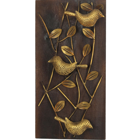 Designer 3 Sparrows Wall Décor - Wall Hanging_ROYAL_AMBIENCE