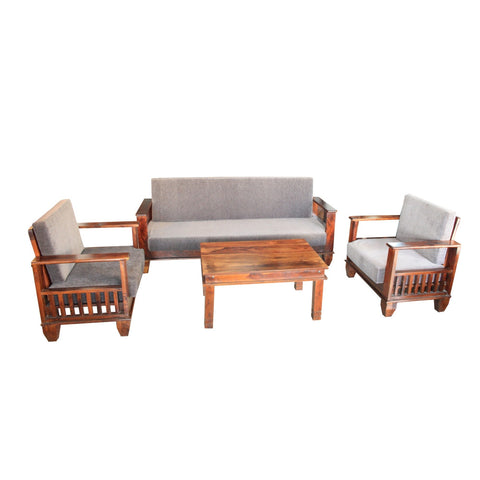 Wooden Sofa Set Robust - Rosewood