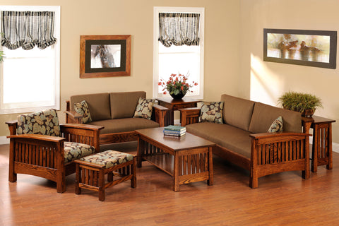 Wooden sofa set Strip - Rosewood
