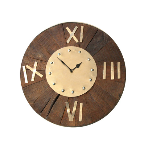 Natural wood Wall Clock Roman handmade