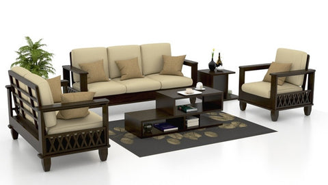 Wooden Cross Sofa Set Trendy