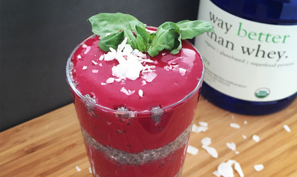 strawberry and basil smoothie
