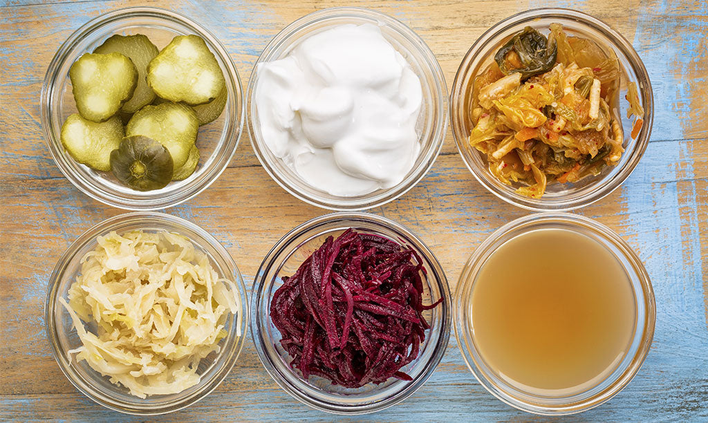Gut Healing Fermented Foods in Jars