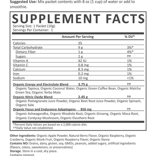 Organic Pre-Workout Powder - Organic Pre Workout Nutrition Facts supplement-facts beet-pomegranate_1