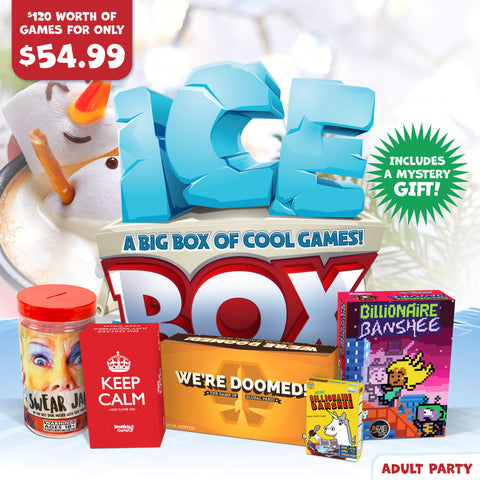 Adult Party Holiday Ice Box of Games
