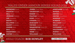 Howley Names Welsh Squad for the Under Armour Autumn Series