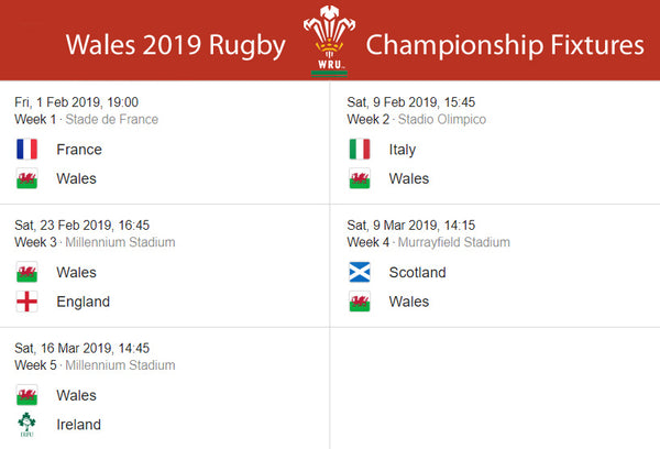Image result for wales six nations fixtures 2019