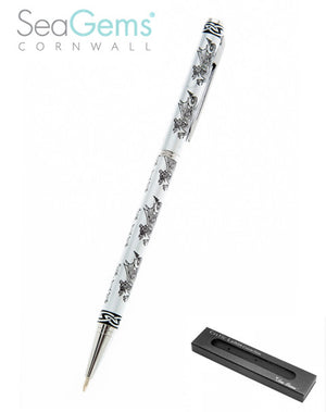 Black & Silver Welsh Dragon Wallet Pen